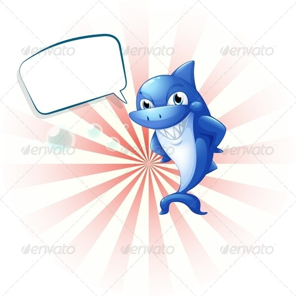 A Smiling Shark with an Empty Callout - Animals Characters