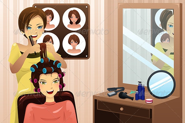 Hair Salon - People Characters