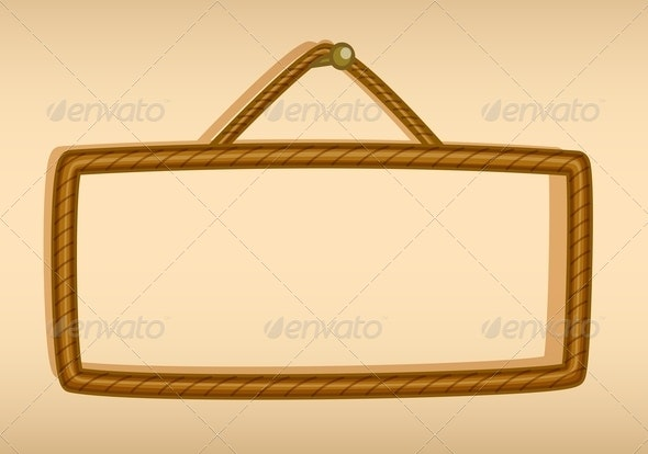 A Hanging Empty Signboard - Man-made Objects Objects