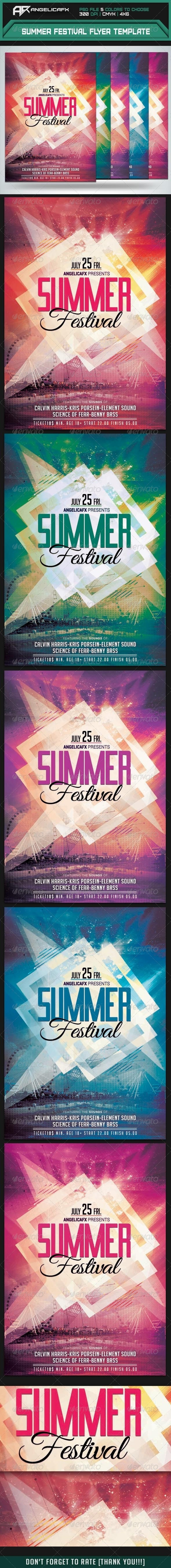 Summer Festival Flyer Template - Flyers Print Templates