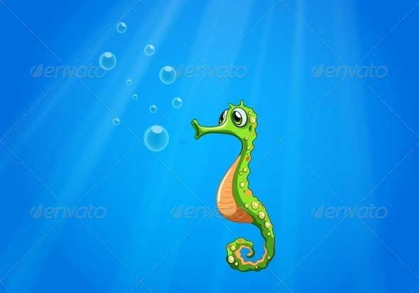 A Seahorse under the Sea - Animals Characters