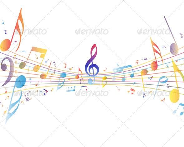 Multicolor Musical - Miscellaneous Vectors