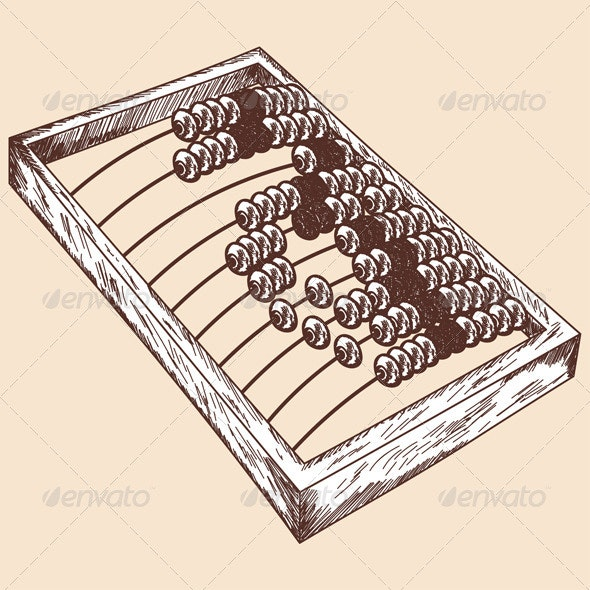 Wooden Abacus Sketch - Man-made Objects Objects