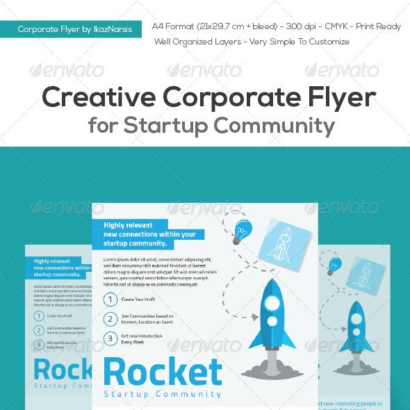 Creative Corporate Flyer for Startup Community