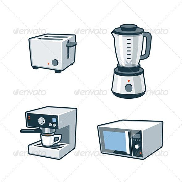 Home Appliances 3 - Toaster, Blender, Coffee maker
