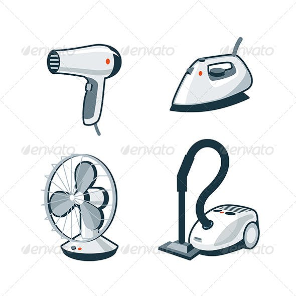 Home Appliances 5 - Hair Dryer, Iron, Fan, Vacuum