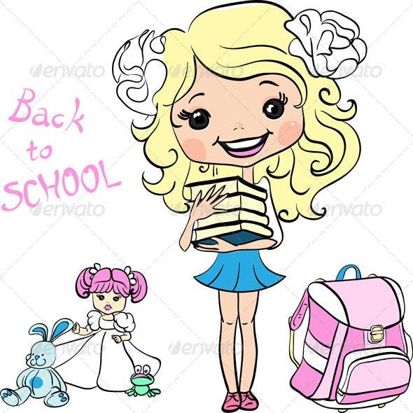 School Girl - People Characters