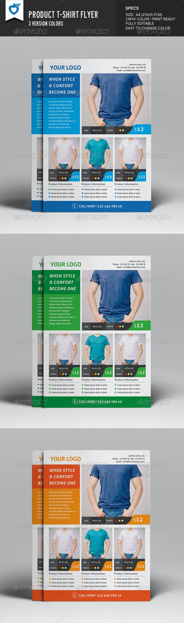 Product T-shirt Flyer - Commerce Flyers