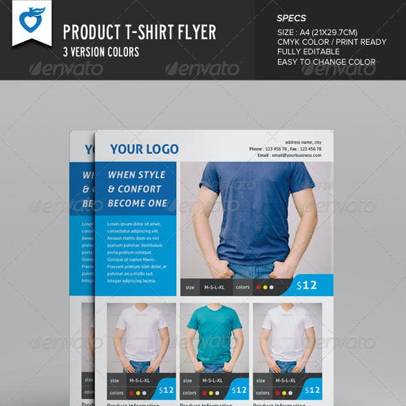 Product T-shirt Flyer