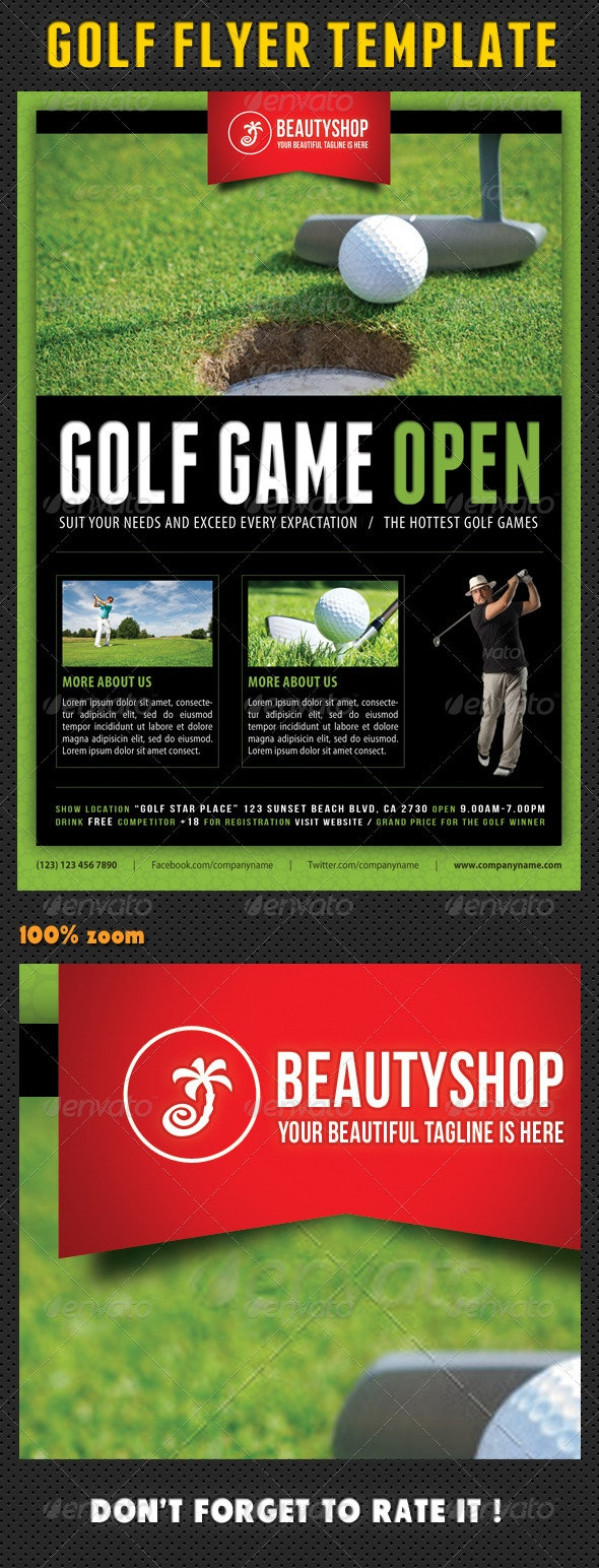 Golf Flyer Template 04 - Sports Events