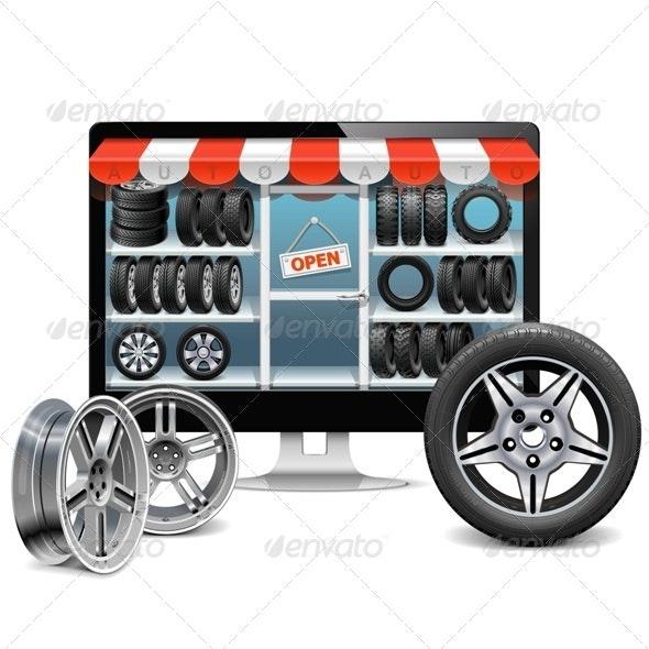 Tire Shop Concept - Commercial / Shopping Conceptual
