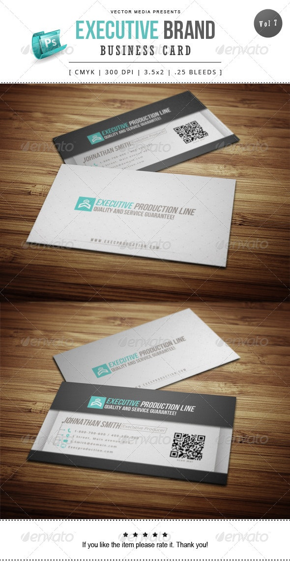 Executive Brand - Business Card [Vol.7] - Corporate Business Cards