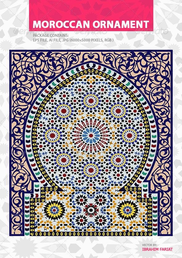 Moroccan Orament - Decorative Vectors