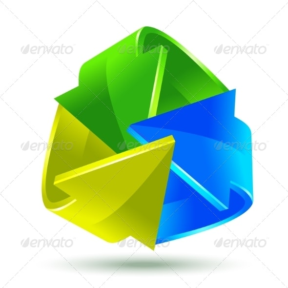 Colorful Arrows Icon - Web Technology