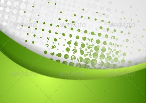 Abstract Green Grunge Wavy Background - Backgrounds Decorative