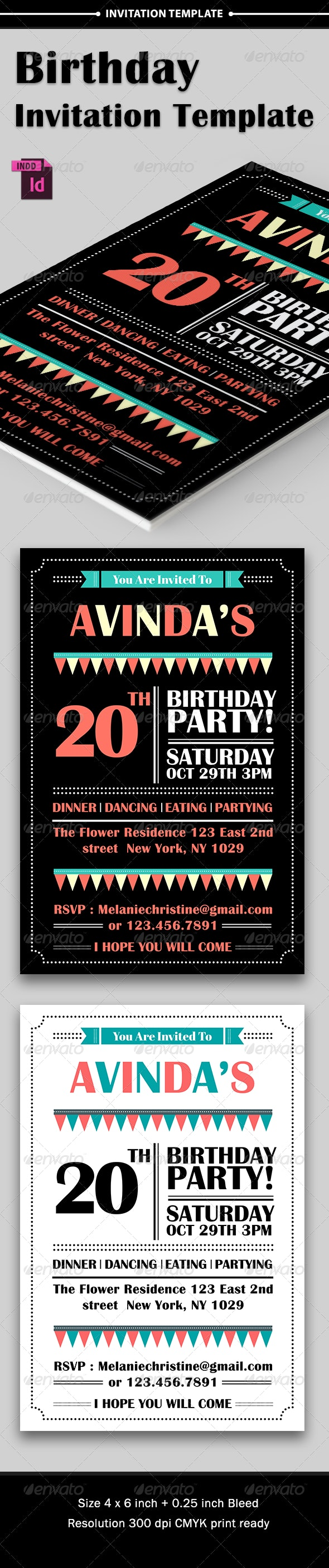 Birthday Party Invitation - Invitations Cards & Invites