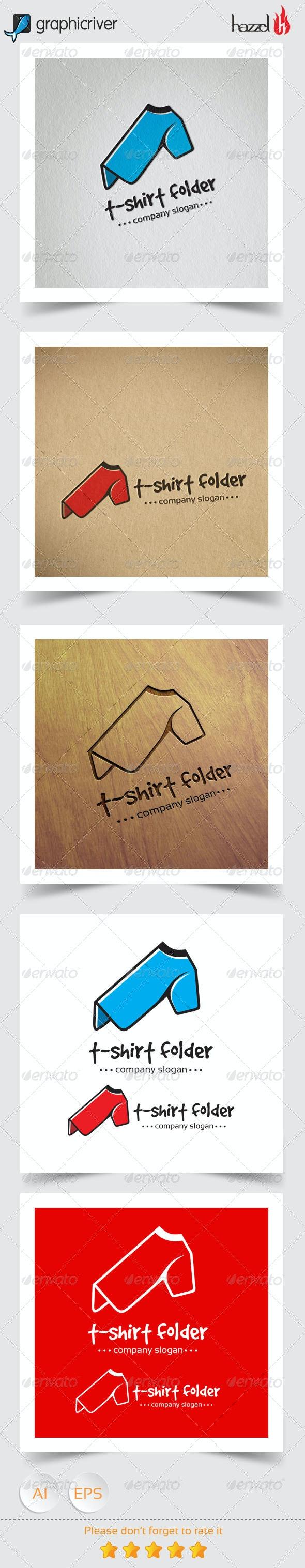 T-shirt Folder Logo - Vector Abstract