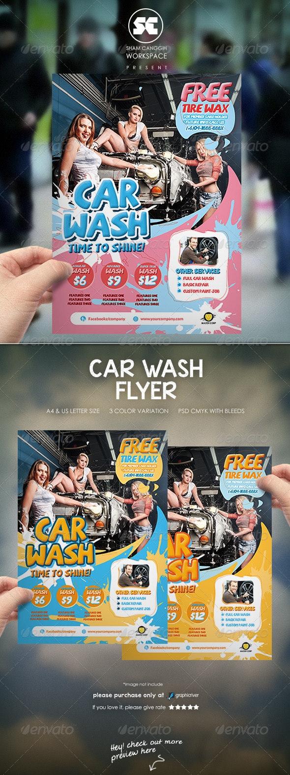 Car Wash Flyer - Miscellaneous Events