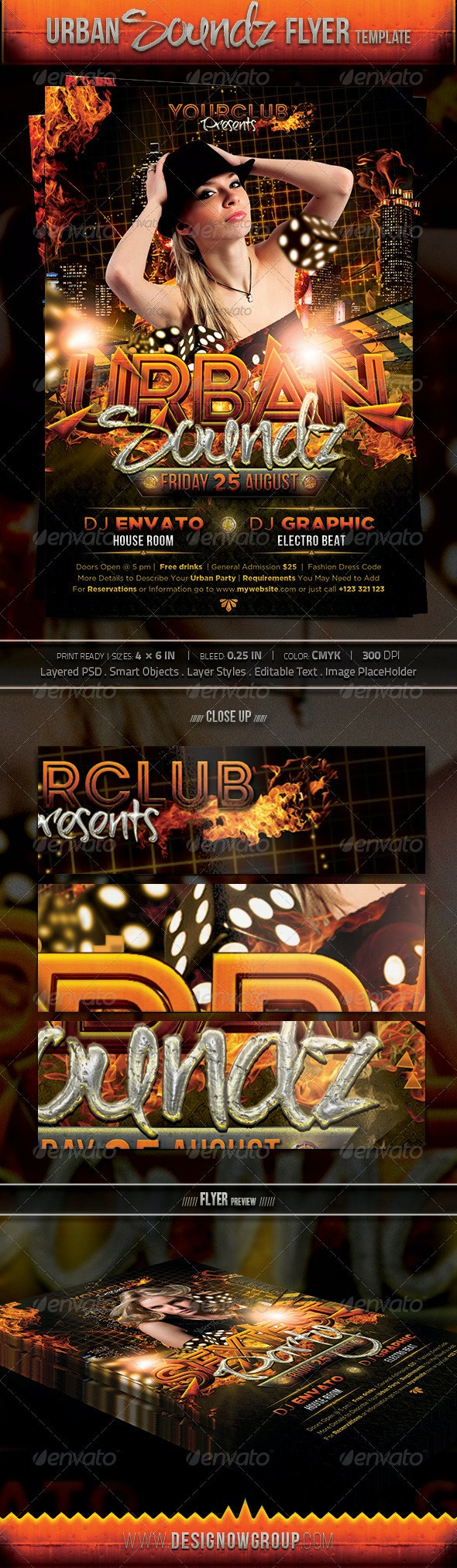 Urban Sounds - Events Flyers