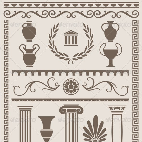 Ancient Greek and Roman Design Elements