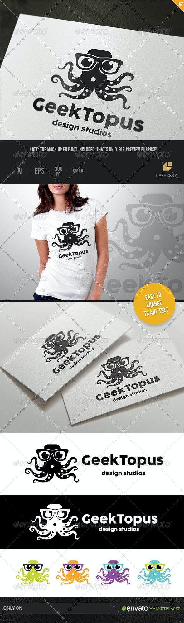 Geek Topus Logo - Animals Logo Templates