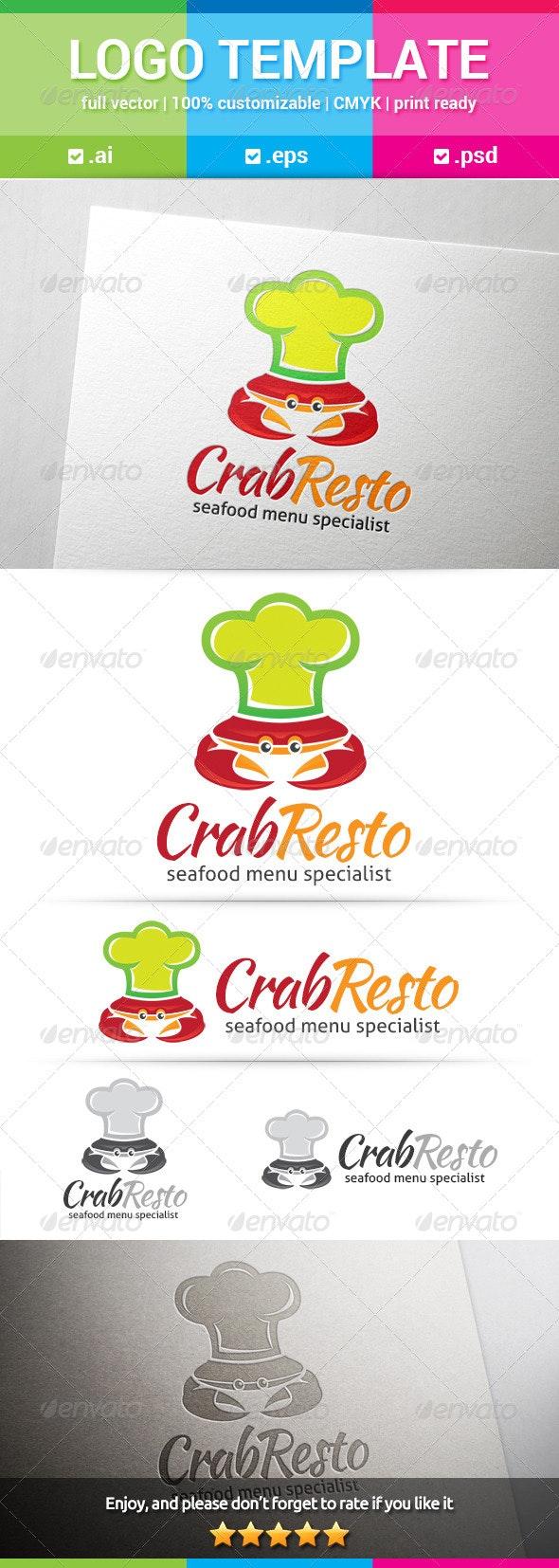 Crab Resto Logo - Food Logo Templates