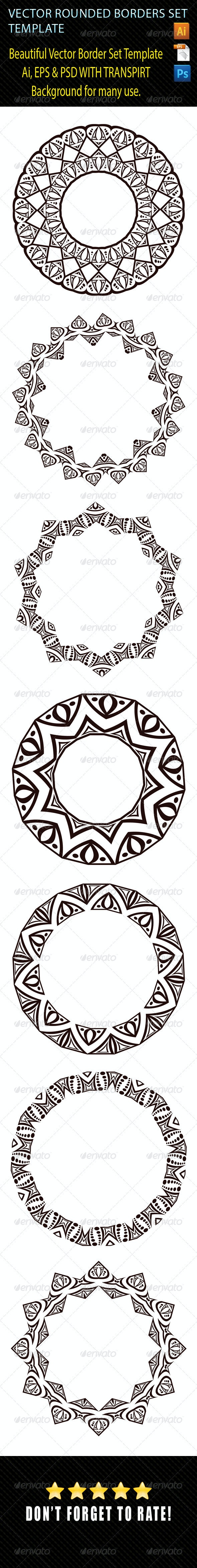Vector Rounded Borders Set 02 - Borders Decorative
