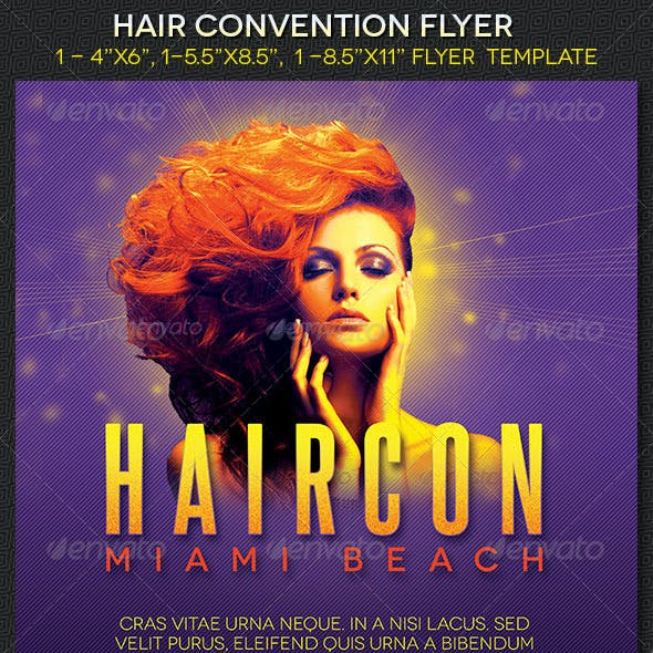 Hair Convention  Flyer Template