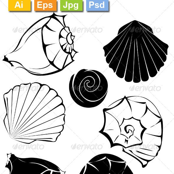 Silhouette of Seashells