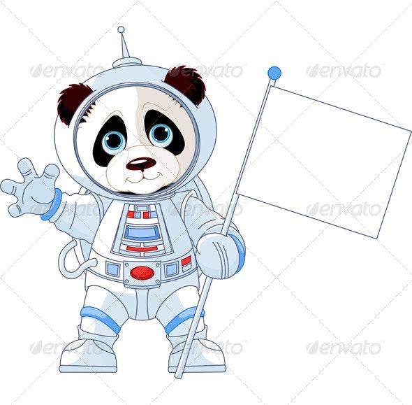Astronaut Panda - Animals Characters