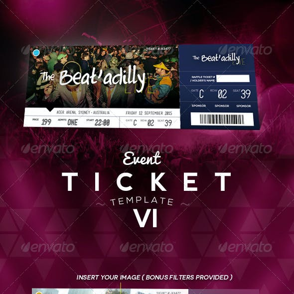 Event Ticket Template VI
