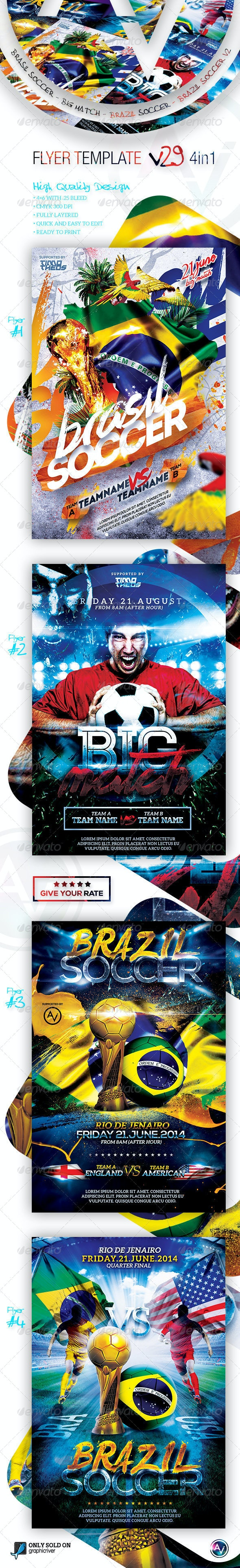 Flyer Bundle Vol29 - 4 in 1 - Sports Events