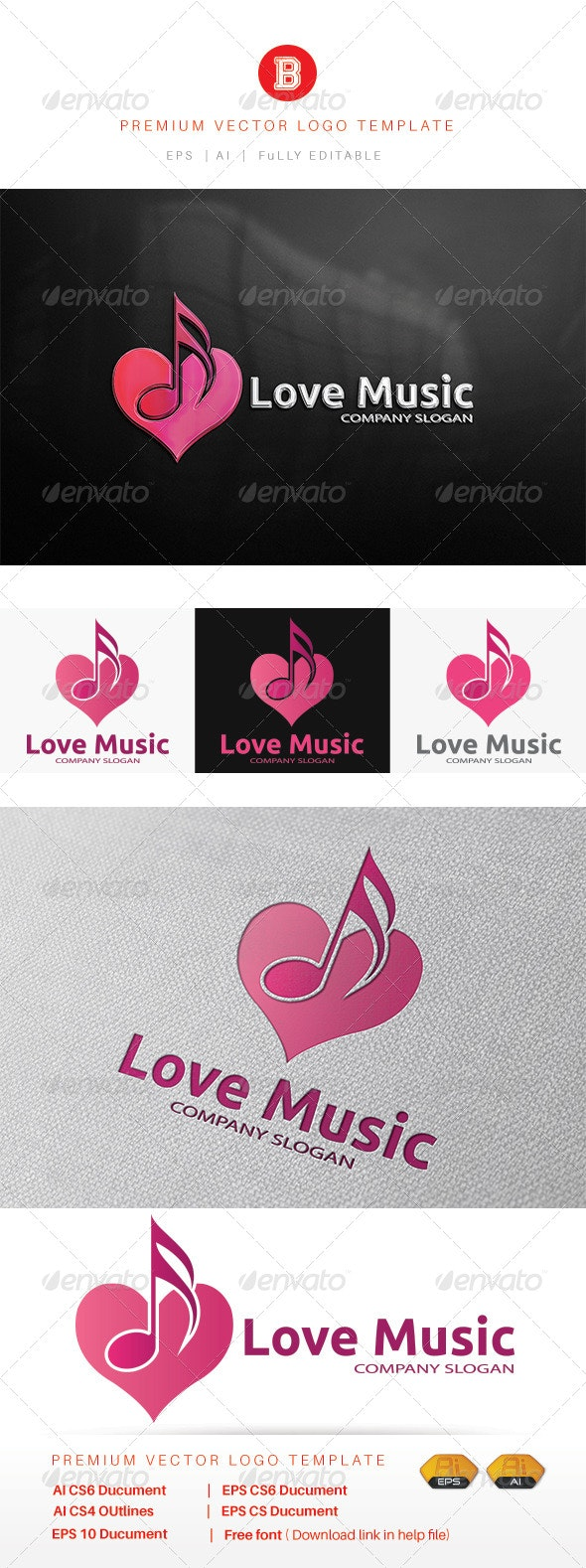 Love Music - Vector Abstract