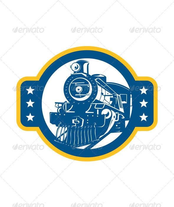 Steam Train Locomotive Front Retro - Travel Conceptual