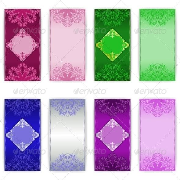 Set of Vector Invitation Card - Patterns Decorative