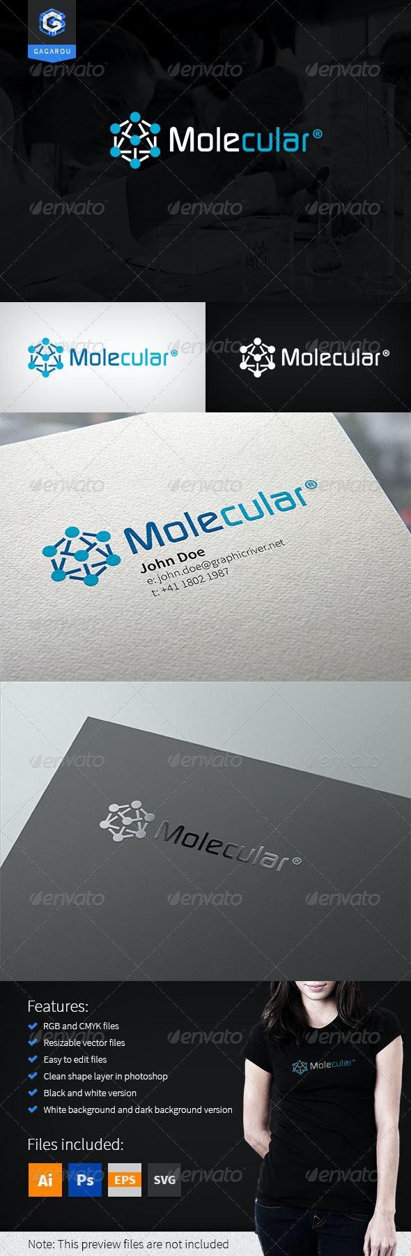 Molecular Logo - Abstract Logo Templates