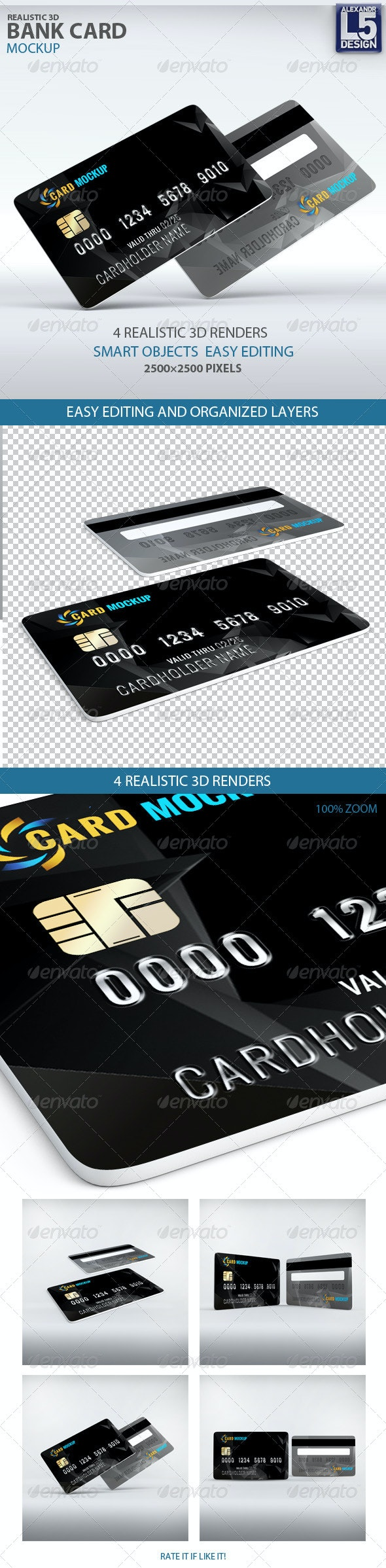 Bank Card Mockup - Miscellaneous Print