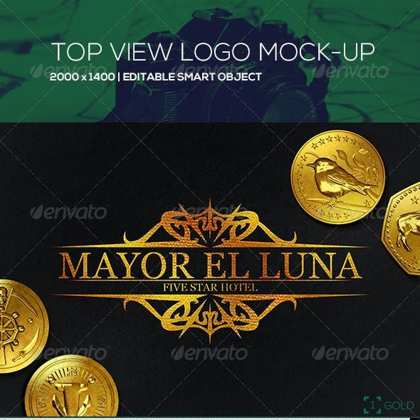 Top View Logo Mock Up
