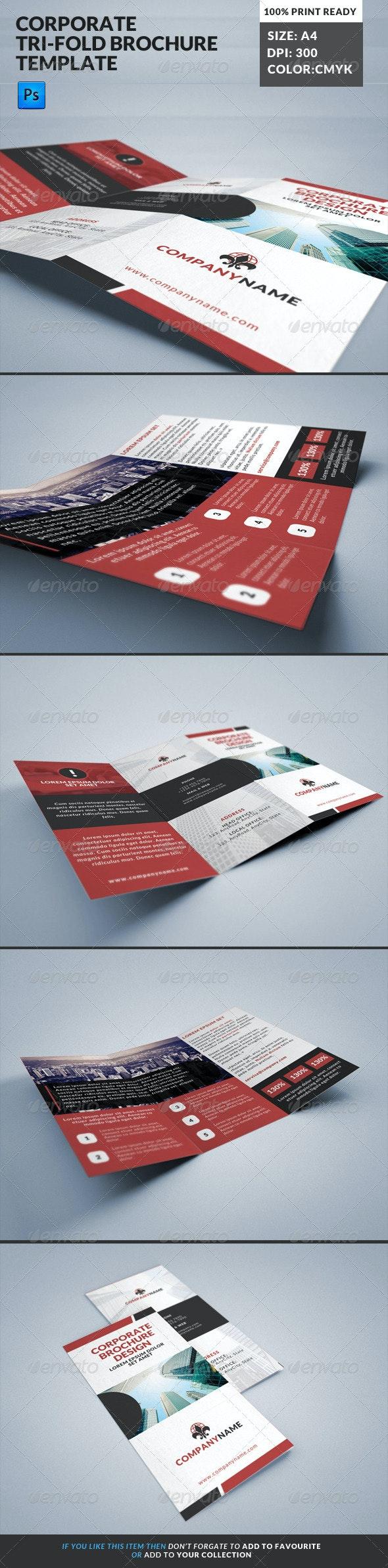 Corporate Tri-Fold Brochures Template 14 - Corporate Brochures