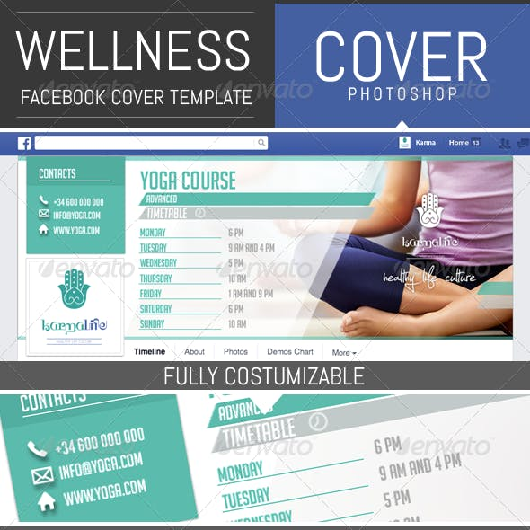 Wellness / Sport Timeline Facebook Cover Template