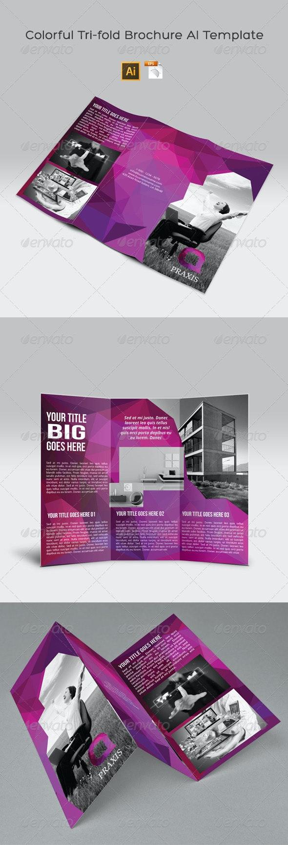 Colorful Tri-fold Brochure AI Template - Corporate Brochures