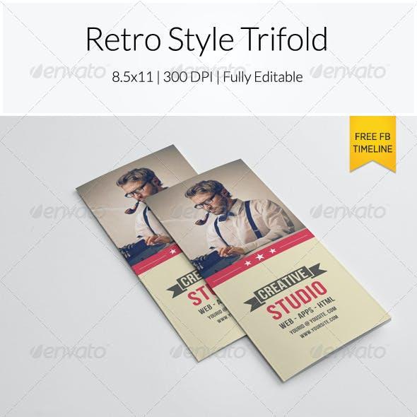 Retro Style Trifold Brochure
