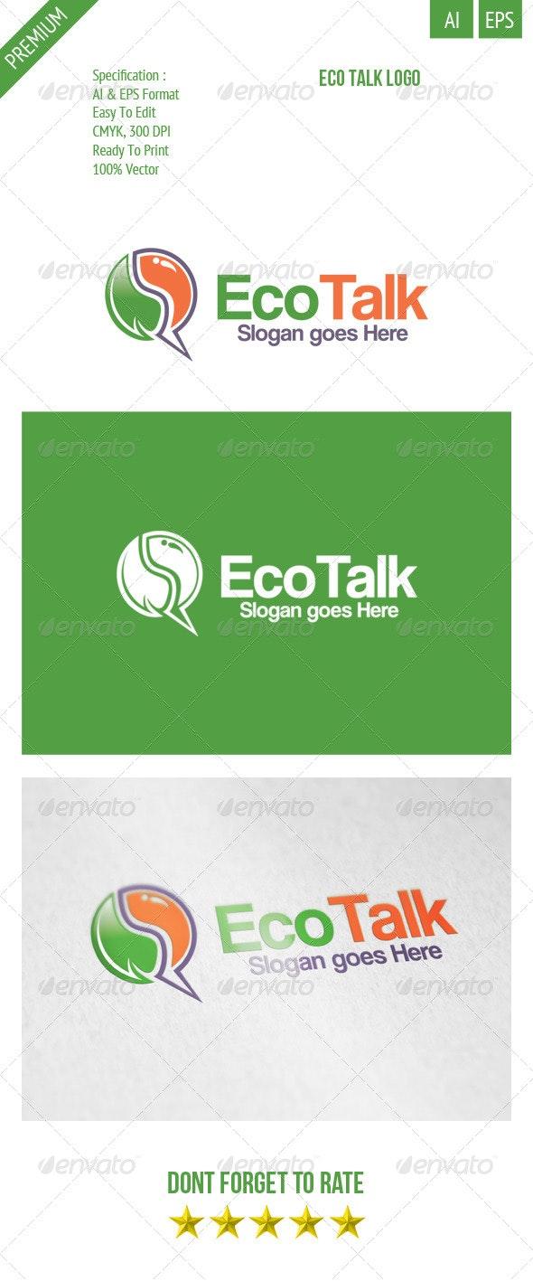 Eco Talk Logo - Symbols Logo Templates