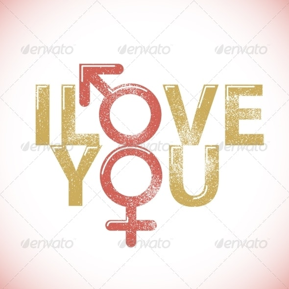 I Love You Print Background - Backgrounds Decorative
