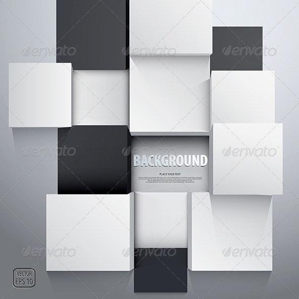 3D Cubes Background - Concepts Business