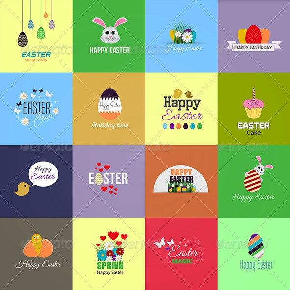Easter Cards Collection - Seasons/Holidays Conceptual