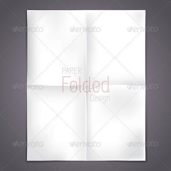 White Folded Paper  - Concepts Business