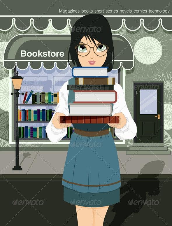 Women Readers - People Characters