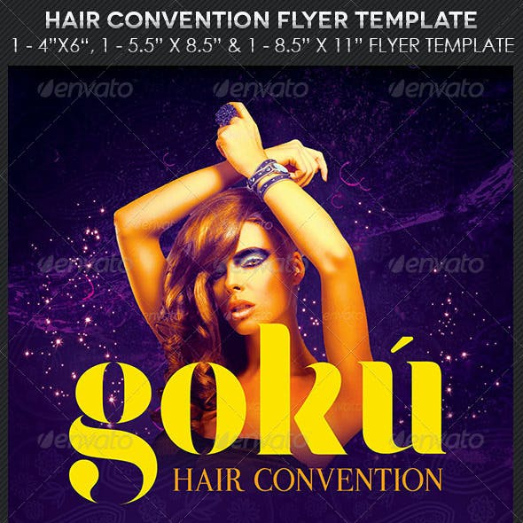Hair Convention Flyer Photoshop Template