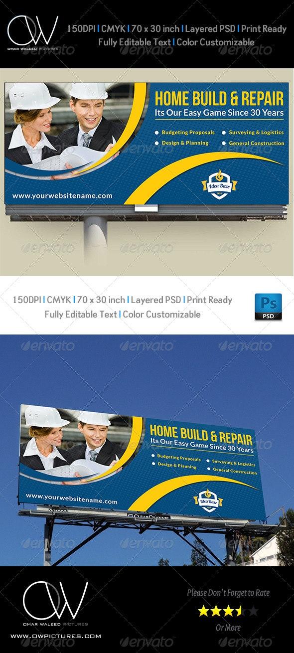 Construction Business Billboard Template Vol.3 - Signage Print Templates